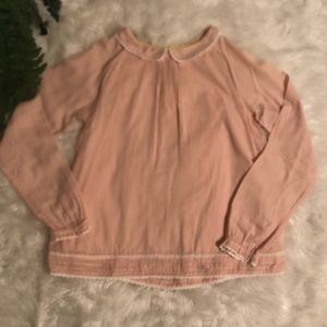 Mini Boden blush pink top